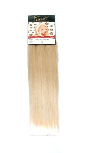 1st Lady 35,6 cm Naturel Euro soyeux droites Cheveux humains tissage Trame 100 g