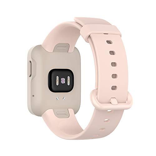 KINOEHOO Correas para relojes Compatible con Mi Watch Lite,with Redmi watch Pulseras de repuesto.Correas para relojesde siliCompatible cona.(Rosa claro)