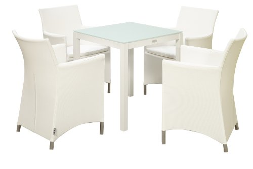 Akula 570GW Koro 4-Seater Dining Suite in White Textilene