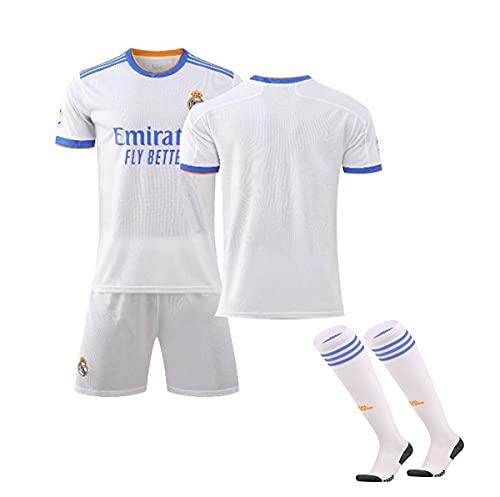 YAWIGS Camiseta de Fútbol para Adultos/Niños, 21-22 Real Madrid en Casa Jersey...