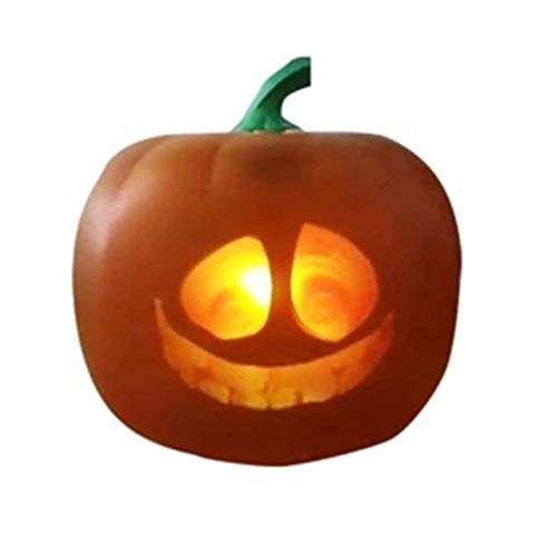 Yimixz Halloween Flash Talking Animated LED Pumpkin Projection Lamp for Home Party