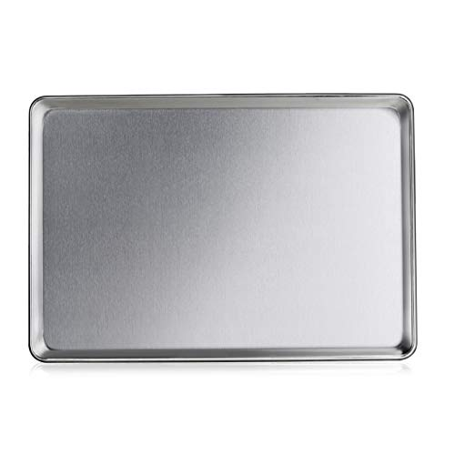 New Star Foodservice 36749 Commercial-Grade 16-Gauge Aluminum Sheet Pan/Bun Pan, 18' L x 26' W x 1' H (Full Size) | Measure Oven (Recommended)
