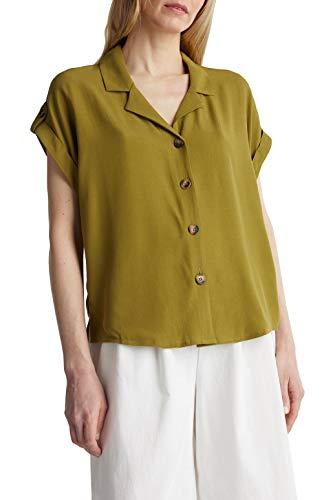 ESPRIT Damen 070EE1F301 Bluse, 360/OLIVE, 34