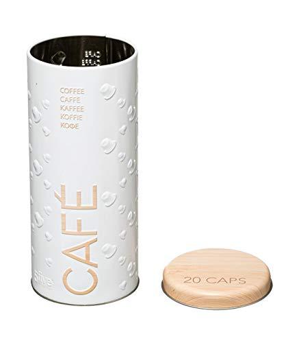 1 x scatola per capsule di caffè; scatola per cialde di caffè, porta capsule (18 x 8 cm).