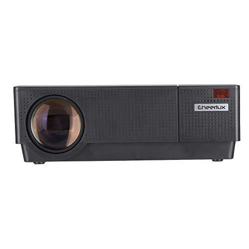 Proyector Mini proyector Cine en Casa Proyector De Video, Proyector Portátil LED Portátil LED + Panel LCD 1920x1280 con Control Remoto Proyector De Película De Cine En Casa.