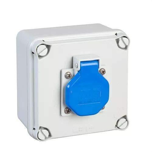 IDE 40892 verdeeldoos met stopcontacten, grijs, 108 x 108 x 64 mm