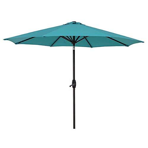 FEE-ZC Paraguas de Mesa de jardín de Patio al Aire Libre de 9 pies con Ajuste de inclinación, Exteriores, Mercado de Eventos comerciales en la Playa, Camping, Piscina (Lago Azul)