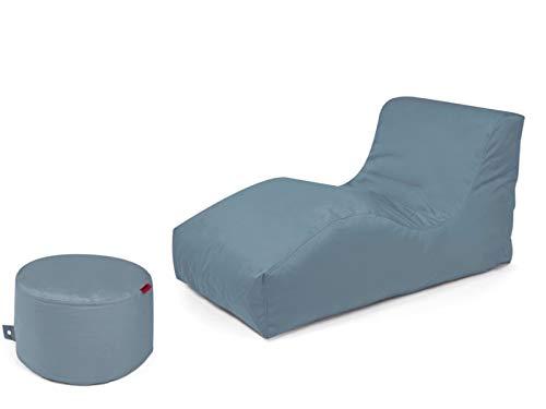Outbag 2er Set Sitzsack Wave mit Rock l Gartenliege l Stone