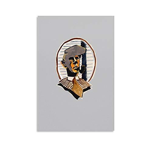 Daniil Kharms II Leinwandbild für Wohnzimmer, Badezimmer, Wanddekoration, Schlafzimmer, Büro, Küche, Heimdekoration, 20 x 30 cm
