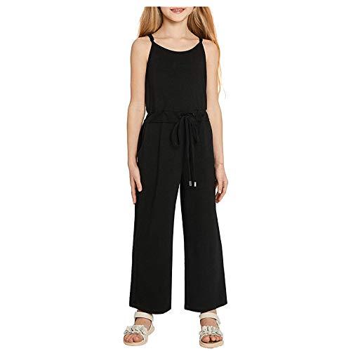 Julhold Conjunto de ropa de verano para bebés y niñas, con correas ajustables, sin mangas, sólido, para recién nacido