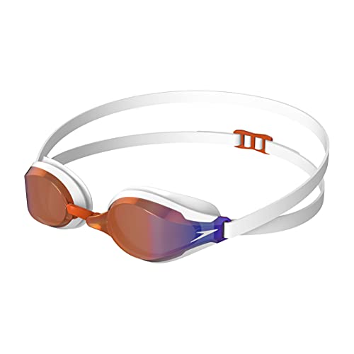 Speedo Fastskin Speedsocket 2 Gafas de natación, Unisex-Adult, Blanco/Dragon Fire/Copper Gold, Einheitsgröße