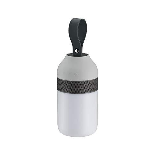 Preisvergleich Produktbild Paulmann 94212 LED Akkuleuchte Mobile Tischleuchte Clutch Sound incl. 1x1, 5 Watt IP44 dimmbar Mobiles Licht Grau Akkulampe Kunststoff Kabellos 3000 K