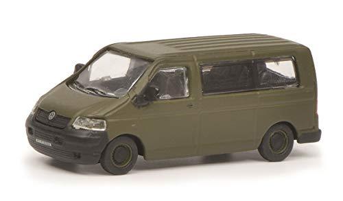 Schuco 452642600 VW T5 Bus Bundeswehr 1:87 452642600-VW, Modellauto, Modellfahrzeug, Olive