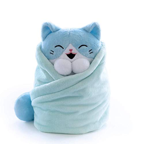 Hashtag Collectibles Purritos XL 12 Inch Cat In Blanket Plush Tuna