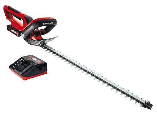 Einhell Taille-haies sans fil sur batterie GE-CH 1855/1 Li Kit (1x2,0 Ah) Power X-Change (18 V, Longueur de coupe 55 cm)- VERSION KIT, LIVRE AVEC 1 BATTERIE 2.0 Ah ET 1 CHARGEUR