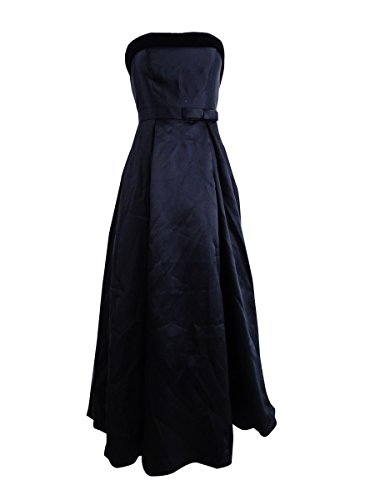 Xscape Womens Satin Bow Evening Dress Black 2
