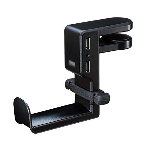 Soporte para Auriculares Interfaz USB for auriculares titular puede girarse 360 ° de resina ABS de auriculares sostenedor creativo de auriculares Holder linda Auriculares de soporte de auriculares H