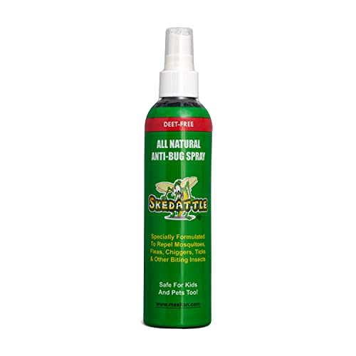 Skedattle Anti-Bug Spray - Hand and Body Spray Bug Repellent - All Natural Insect Repellent with Essential Oils - Kid & Baby Safe - 8 fl oz Model: SK8