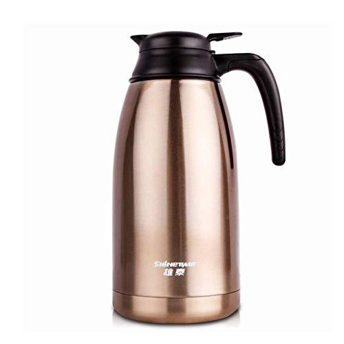 Household products - Ajuste de la jarra de la jarra de la jarra de la jarra con aislamiento del vacío de doble pared / de aislamiento Pot / cafetera Jarra / jarra de agua con mango de la tapa (color: