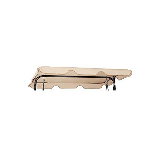 WingFly Toit Balancelle Toit de Rechange pour Balancelle Balançoire Imperméable Beige/Café/Noir/Vert Trois Tailles Disponibles (195x125CM, Beige)