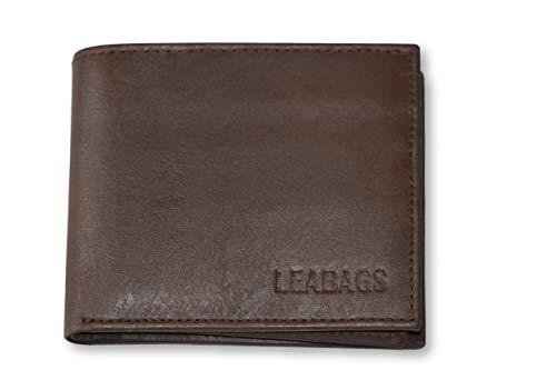 Leabags Springfield - Portafoglio da uomo in vera pelle di bufalo, Katmus