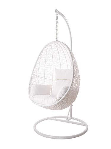 Kideo Swing Chair Sillón Colgante Hamaca Sillón de Descanso Muebles de Salón *Eyecatcher* - Blanco/Blanco