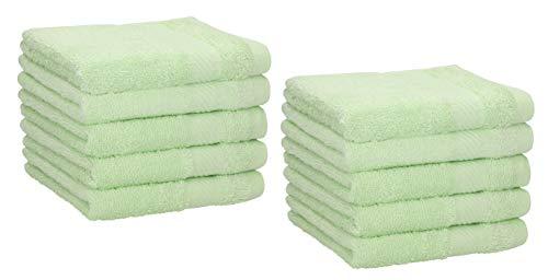 Betz Paquete de 10 Toallas faciales Palermo tamaño 30x30cm 100% algodón (Verde)