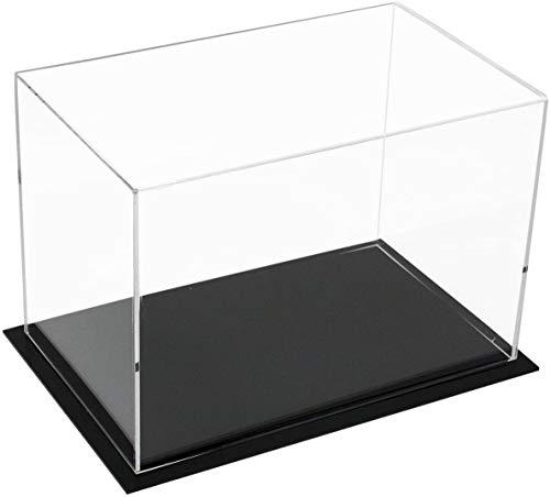Vitrina de Acrílico Caja de Encimera Organizador de Protección a Prueba de Polvo,Vitrina Expositora para Colecciones,Autoensamblaje(10x6x7pulgadas,25 x 15 x 18cm)