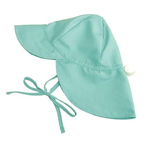N/AB Sombrero de sol para niña, protección UV, unisex, con cintas para atar y protección para la nuca verde L