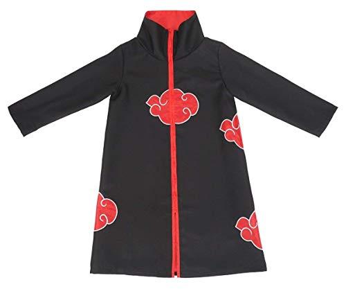 COSAUG Akatsuki Cloak for Children Cosplay Costume (130) Black