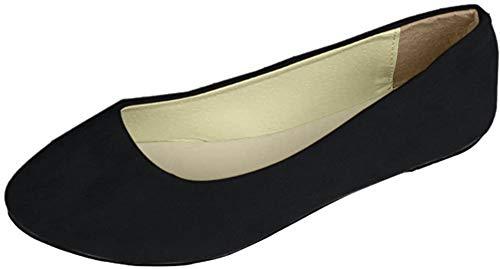 MISSMAO Donna Colore Caramella Piccole Scarpe Singole Vai a Lavorare OL Piatto Sandali Elegante appuntito Tinta Unita Ballerine 38 Stretta EU Nero