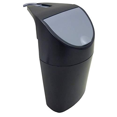 Smart-Planet - Cubo de basura para coche (1,5 L, con tapa y 10 bolsas de basura), color negro