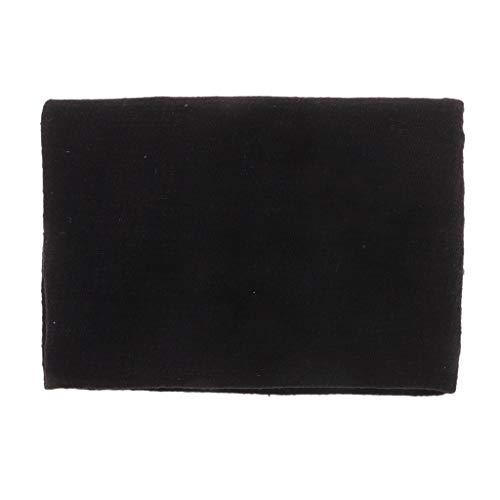 FLAMEER Metervara tyg för sömnad 1 meter linnetyg linne-tyg naturtyg dekorativt tyg klädesplagg överdrag för kläder, möbler, gardiner – svart