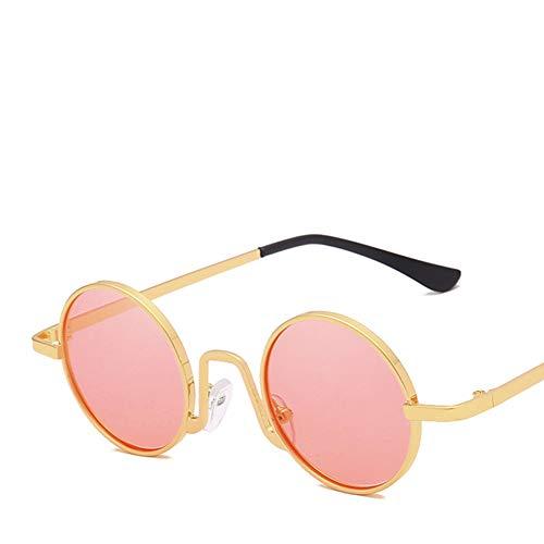 YIWU Brillen 2019 Sonnenbrille Retro Kleine Kiste Hiphop Runder Rahmen Trend Unisex Schatten Brille Anti-UV Göttin Netter Stil Brillen & Zubehör (Color : 5)