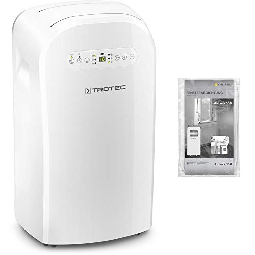 TROTEC Lokales mobiles Klimagerät Klimaanlage PAC 3500 mit 3,5 kW / 12.000 Btu, EEK A/Inkl. Fensterabdichtung AirLock 100