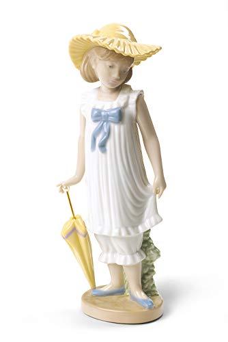 NAO Lladro 02001702 Porzellanfigur April Showers, Mädchen mit Regenschirm