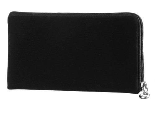 Reissverschluss Handytasche passend für Samsung Galaxy S4 LTE+ GT-I9506 Handy Schutz Hülle Slim Case Cover Etui schwarz