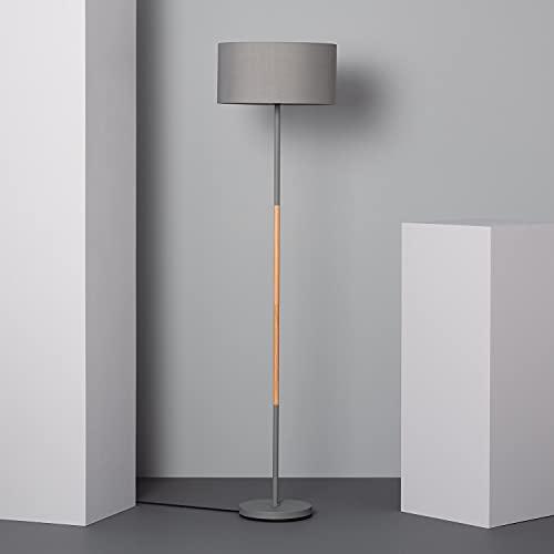LEDKIA LIGHTING Lámpara de Pie Silinda 1595x400x400 mm Gris E27 Casquillo Gordo Metal Decoración Salón, Habitación, Dormitorio