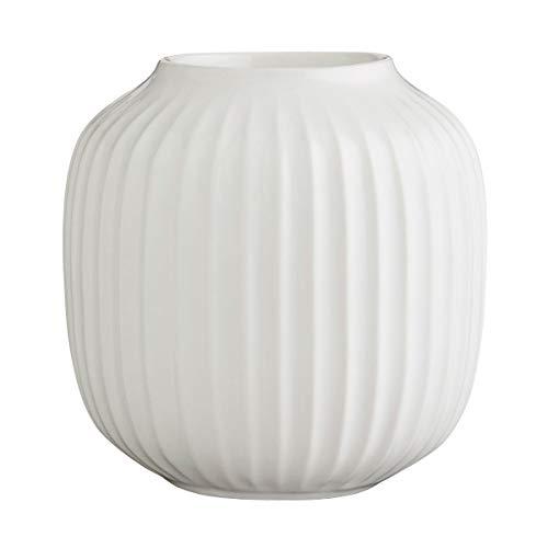 Kähler Hammershoi Teelichthalter, Porzellan, weiß, 9cm
