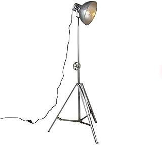 Qazqa Lampadaire | Lampe sur pied Industriel - Samia Lampe Acier - E27 - Convient pour LED - 1 x 25 Watt