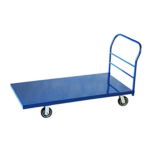 業務用台車 平台車 大型台車 スチール台車 重量台車 耐荷重900kg ブルー 1525x760mm oogata-blue3