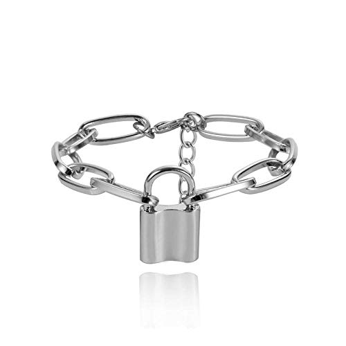 Armband sieraden Punk Gouden Slot Armbanden Voor Vrouwen Hangslot Dikke Cubaanse Ketting Armband Hiphop Schakels Kettingen Armband Vintage Steampunk S
