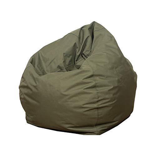 Sitzsackbezug Baumwolle Leinen Sitzsack Stühle/Sofa/Liegestuhl Bezug ohne Füllstoff für Kinder & Erwachsene Bequeme Lounge Gaming Stuhl Sitzsack für Spielzimmer Schlafzimmer Gr. One Size, armee-grün