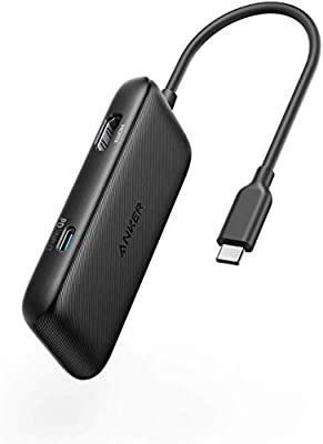 Anker USB C Adapter, Classic 3-in-1 USB-C Hub, with 4K USB C to HDMI, 60W Power Delivery, USB 3.0, for MacBook Pro 2016/2017/2018, Chromebook, XPS, and More