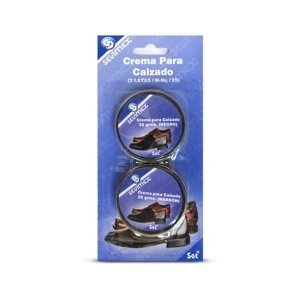 2Vaso Crema di cera nero 25ml ciascuno per scarpa Menage manutenzione