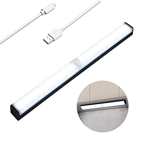 Luz Armario, Luces Armarios con sensor Movimiento USB Recargable 20 LEDs Luz Armario 2 Modos Luces Armario Luz LED Armario, Para Armario, Cocina,Escalera, Pasillo