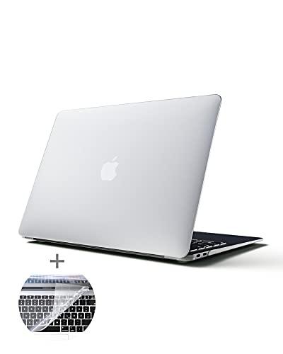 MYMIND® MacBook Air Hülle 13 Zoll - Premium Qualität mit Tastaturschutz - Ultradünnes Apple Case für Mac Book M1 2020 - Neu Cover Schutzhülle für optimalen Halt - Hartschale für Retina Display TouchID