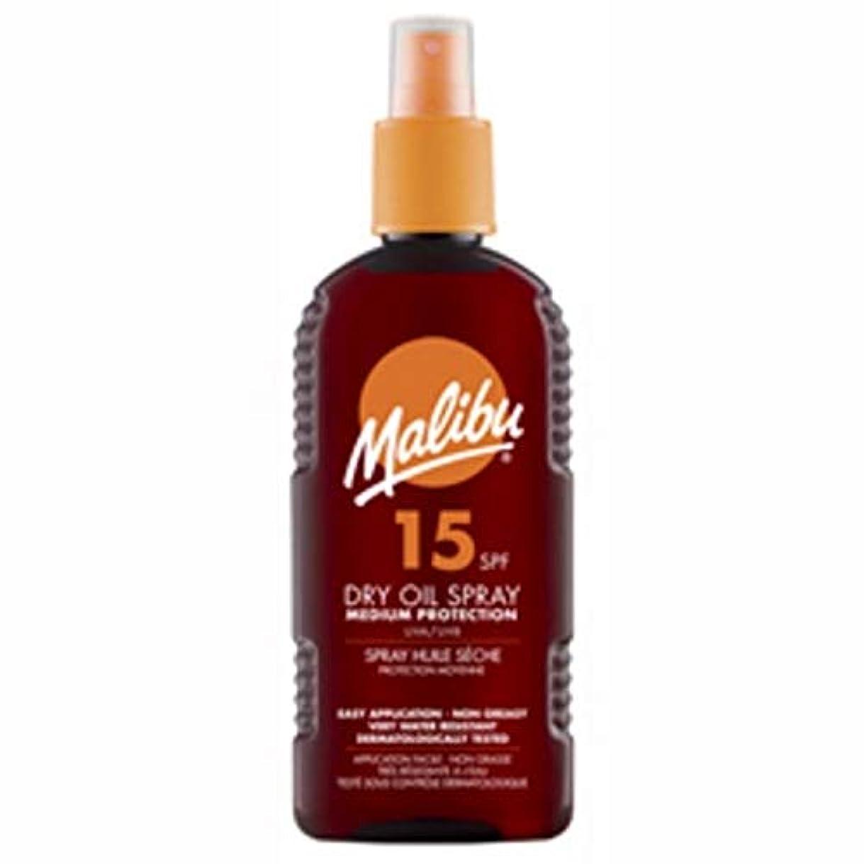 アンテナ失速ロッジ[Malibu ] マリブドライオイルスプレーSpf 15の200ミリリットル - Malibu Dry Oil Spray spf 15 200ml [並行輸入品]
