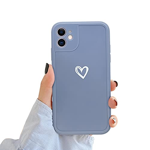 Newseego Compatibile per iPhone 11 Case Silicone (6.1 inch), Carino Heart iPhone 11 Custodia Morbido TPU iPhone 11 Cover per Ragazze Donne Protettivo Custodia in Antiurto Sottile iPhone 11- Grigio