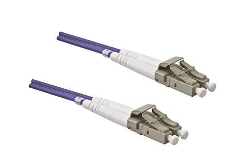 DINIC LWL Kabel OM4, Patchkabel LC/LC Lichtwellenleiter Multimode (20m, violett)